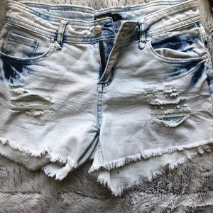 3/$25 Womens Ripped Denim Jean Shorts